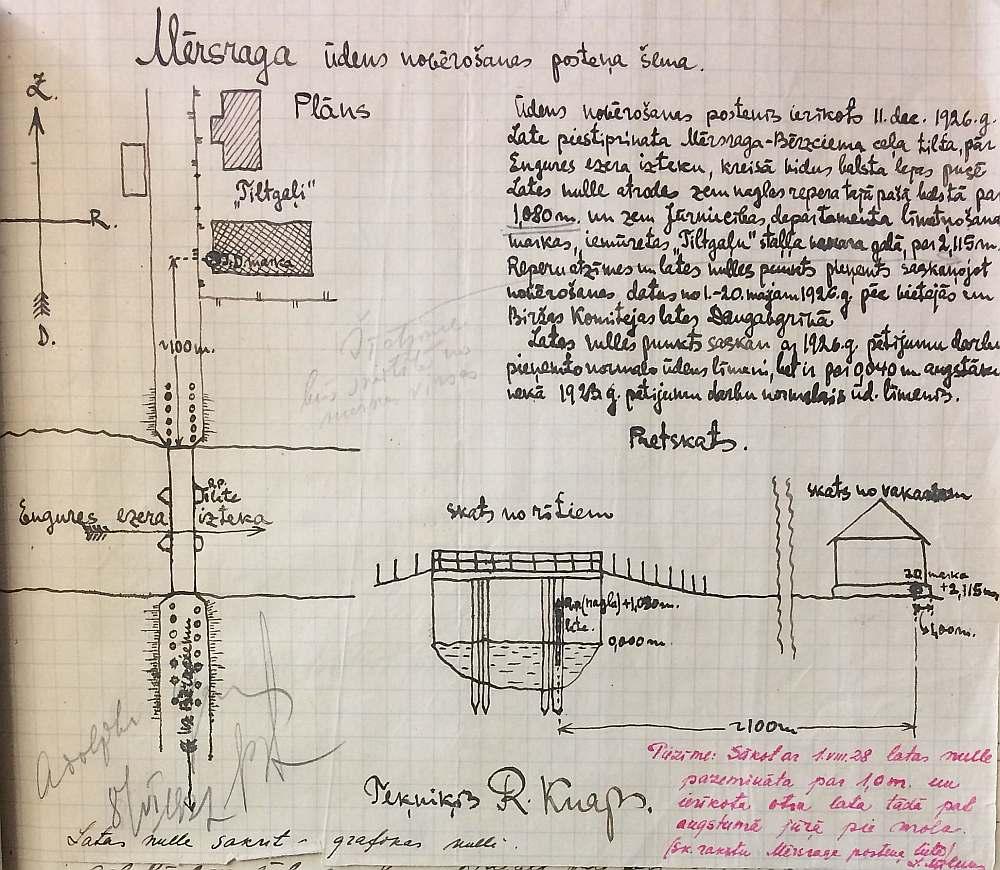 Attēls no vēsturiskām Mērsraga laika novērojumu reģistrācijas grāmatām.