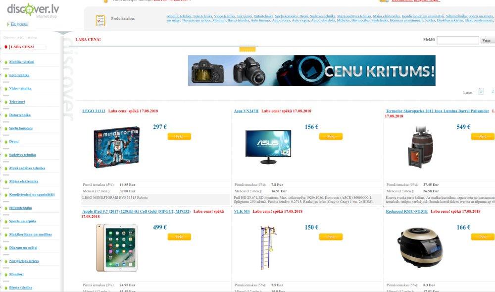 Ekrānuzņēmums no mājaslapas.
