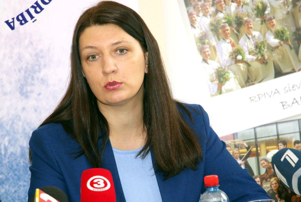 Latvijas Izglītības un zinātnes darbinieku arodbiedrības priekšsēdētāja Inga Vanaga