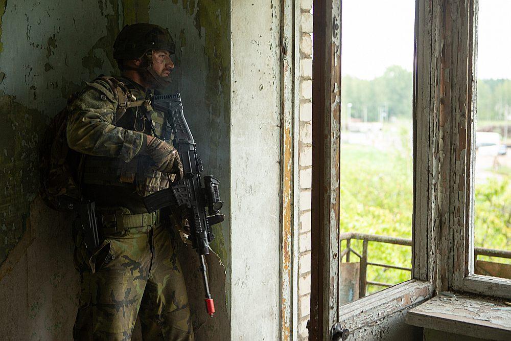 Mācību galvenais mērķis Skrundas poligonā bija pilnveidot spēju veikt aizsardzības operācijas apdzīvotā vietā.