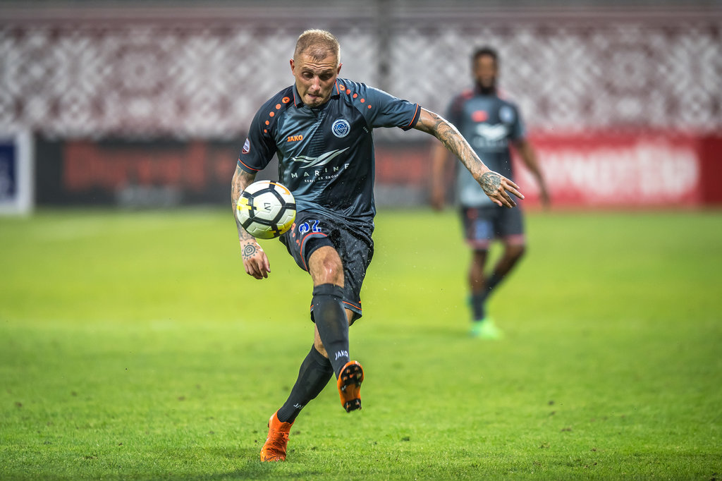 """Riga"" futbolists Deniss Rakels."