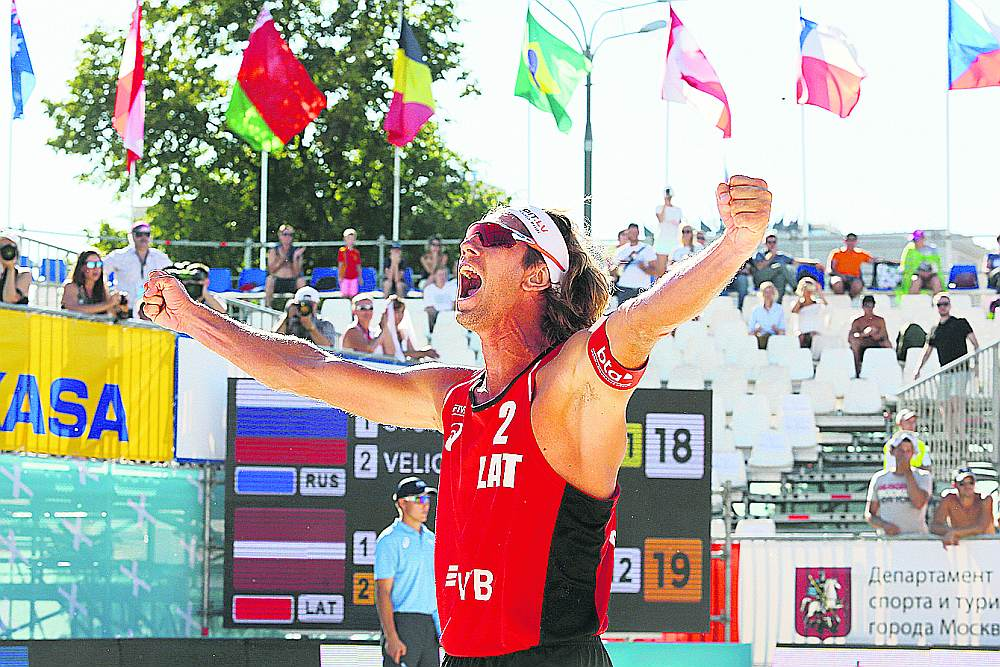 Aleksandrs Samoilovs aizvadīto pludmales volejbola sezonu atzīst par otru sekmīgāko savā karjerā.
