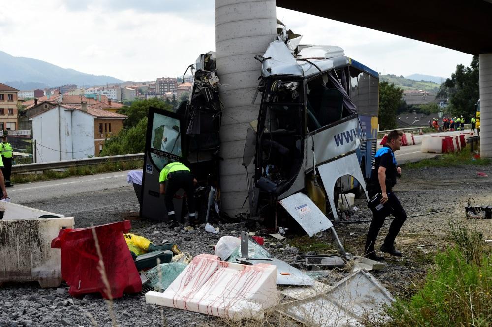 Traģiska autobusa avārija Spānijā, 03.09.2018.
