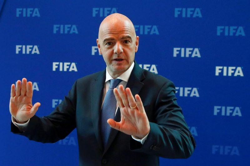 FIFA prezidents Džanni Infantīno.