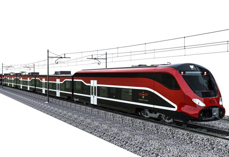 """Spānijas uzņēmuma """"Talgo"""" elektrovilciens var pārvadāt 450 pasažierus."""