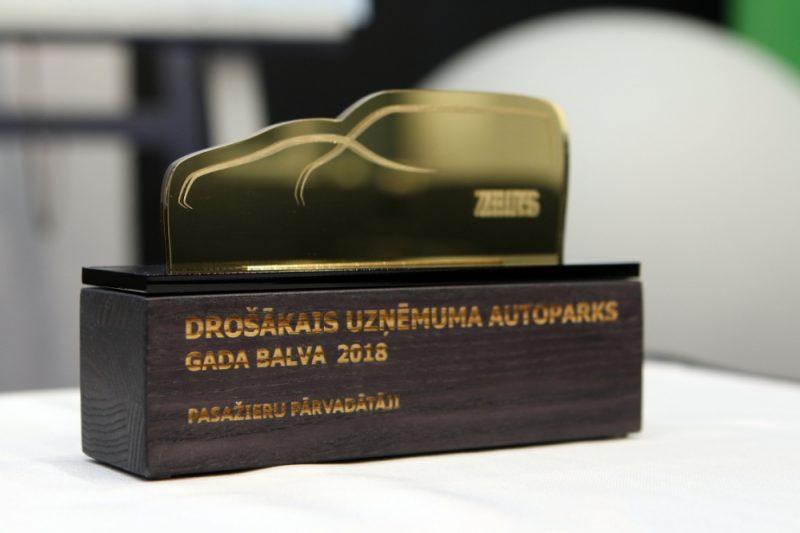 """Paziņoti gada balvas """"Drošākais uzņēmuma autoparks 2018"""" rezultāti."""