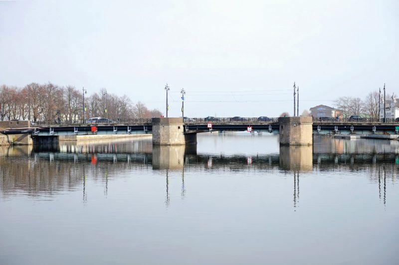 Arhīva foto. Liepājas Tramvaja tilts.