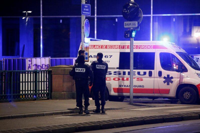 Policija Strasbūras centrā