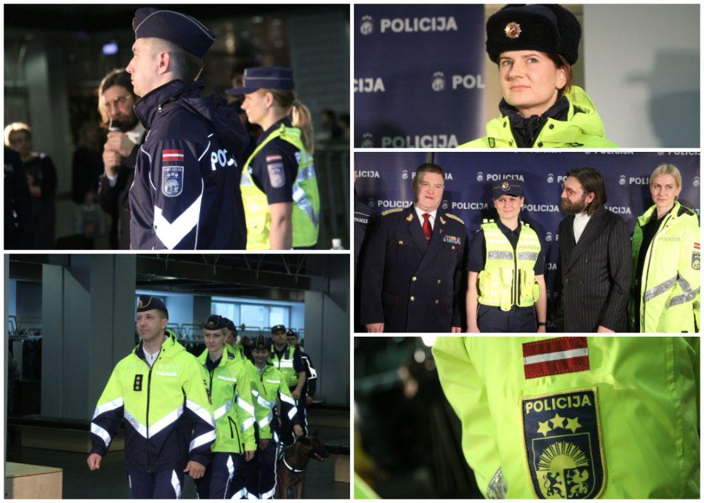 Valsts policija demonstrē jaunās formas