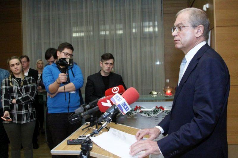 Andris Ameriks paziņo, ka atkāpjas no Rīgas domes vicemēra amata, 17.12.2018.