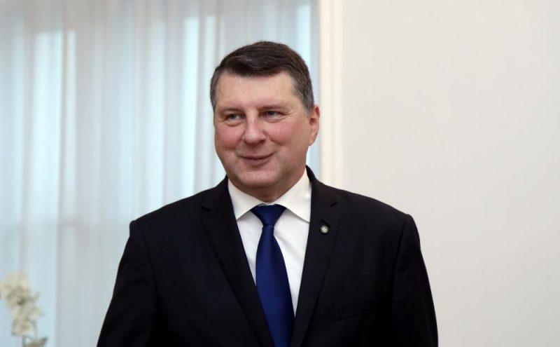 Valsts prezidents Raimonds Vējonis pirms tikšanās ar partijām.