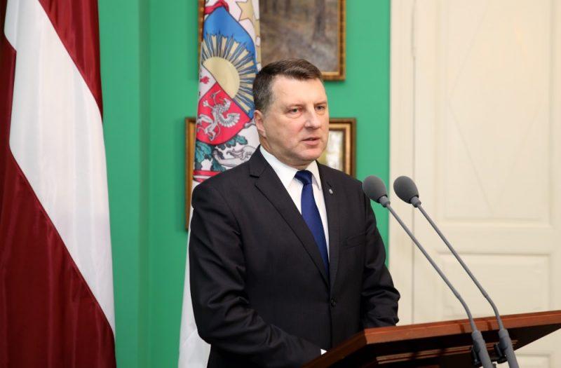 Valsts prezidents Raimonds Vējonis Rīgas pilī.