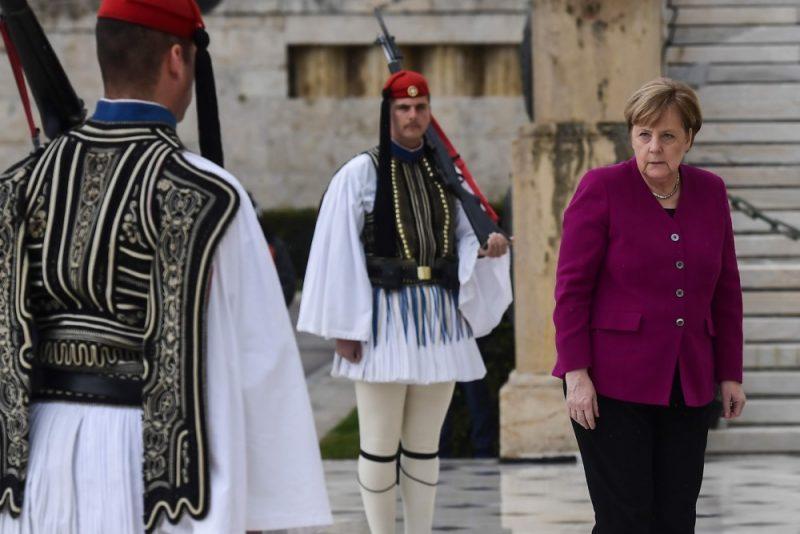 Vācijas kanclere Angela Merkele  Atēnās tikusies ar Grieķijas premjerministru Aleksi Cipru, 11.01.2019.