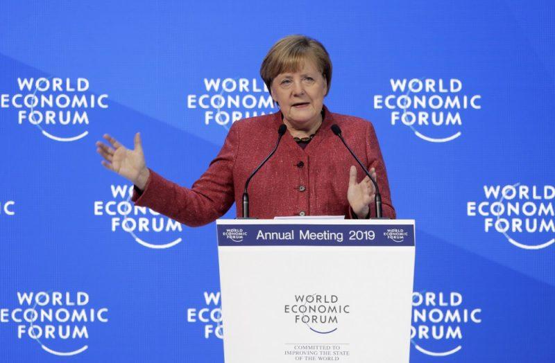 Vācijas kanclere Angela Merkele Davosas Ekonomikas forumā Šveicē, 23.01.2019.