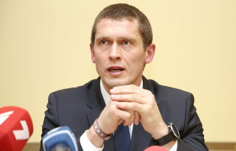 Jaunās konservatīvās partijas valdes loceklis Juris Jurašs piedalās preses konferencē, kurā skaidro pret viņu sāktā kriminālprocesa saistībā ar valsts noslēpuma izpaušanu apstākļus, 22.01.2019.