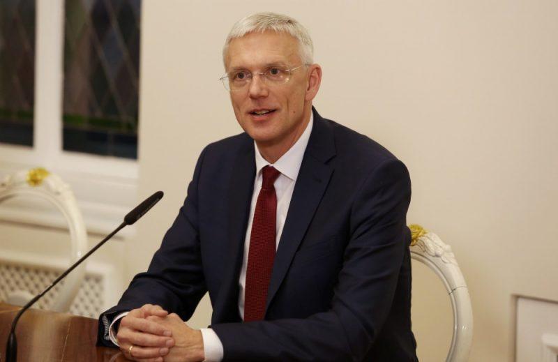 Ministru prezidents Krišjānis Kariņš prese konferences laikā pēc ievēlēšanas amatā un Saeimas ārkārtas sēdē izteiktās uzticības jaunajam Ministru kabinetam, 23.01.2019.