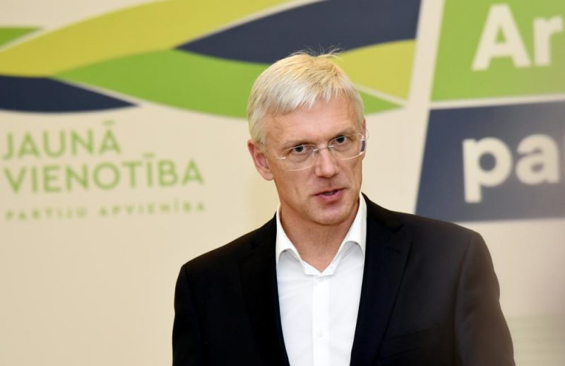 """Partiju apvienības """"Jaunā Vienotība"""" Ministru prezidenta amata kanidāts Krišjānis Kariņš"""