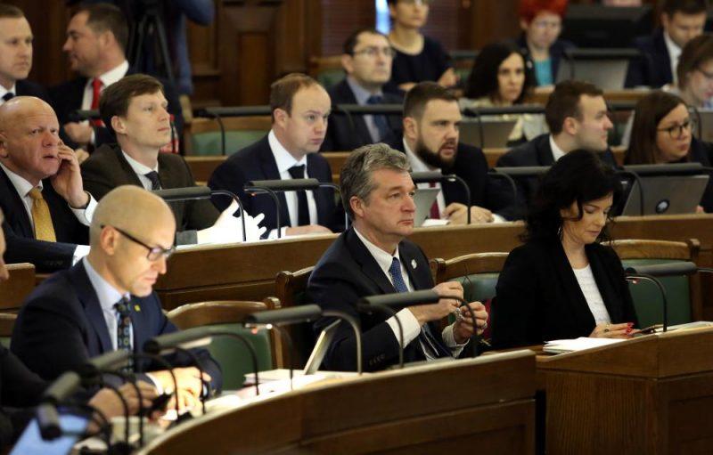 13. Saeimas ziemas sesijas pirmā sēde.