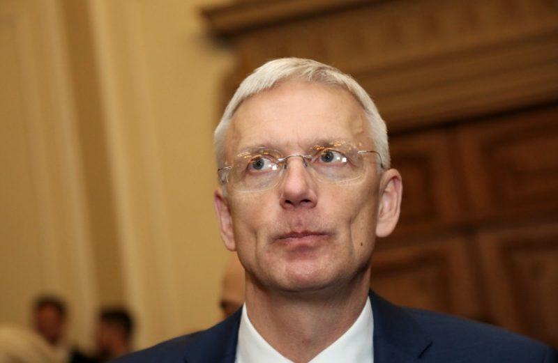 Ministru prezidenta amata kandidāts Krišjānis Kariņš pirms Saeimas ārkārtas sēdes, kurā paredzēts balsojums par uzticības izteikšanu viņa izveidotajam Ministru kabinetam.