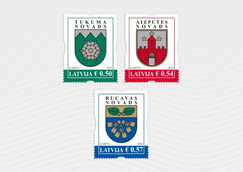 """Latvijas Pasta"" pirmās 2019.gada pastmarkas."