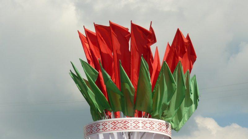Zaļā un sarkanā- Baltkrievijas krāsas.