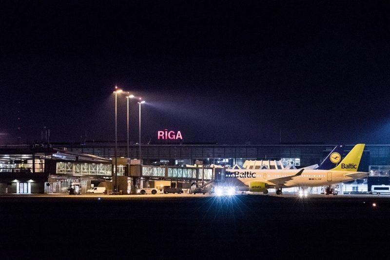 """Starptautiskā lidosta """"Rīga""""."""