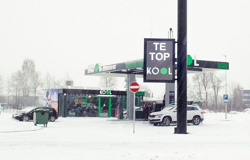 """Latvijas uzņēmums """"KOOL Latvija"""" atver jaunu degvielas uzpildes staciju."""