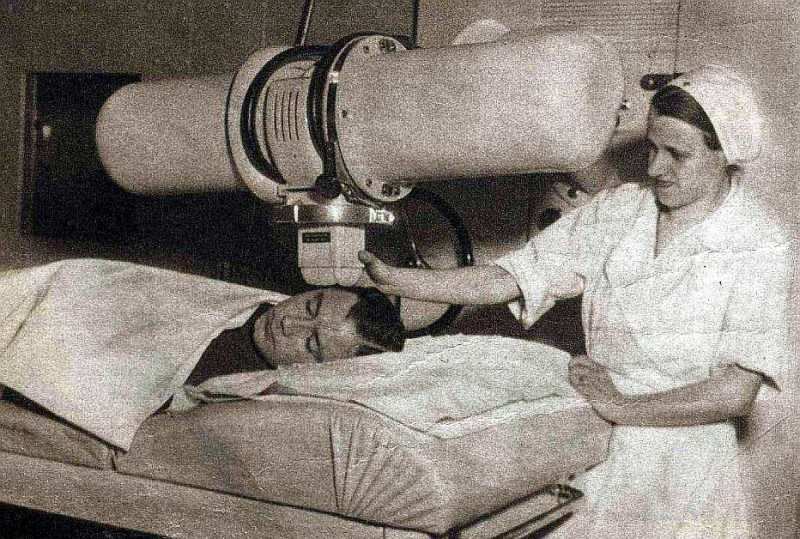 Pacienta apstarošana 30. gados.