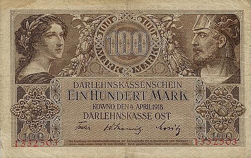 Vācijas okupētajos apgabalos lietotās ostmarkas.