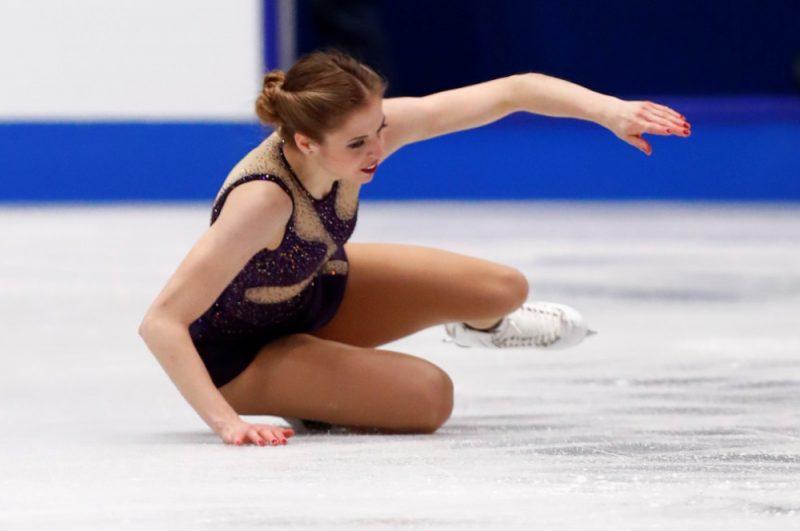 Karolīna Kostnere pērn pasaules čempionātā Milānā.