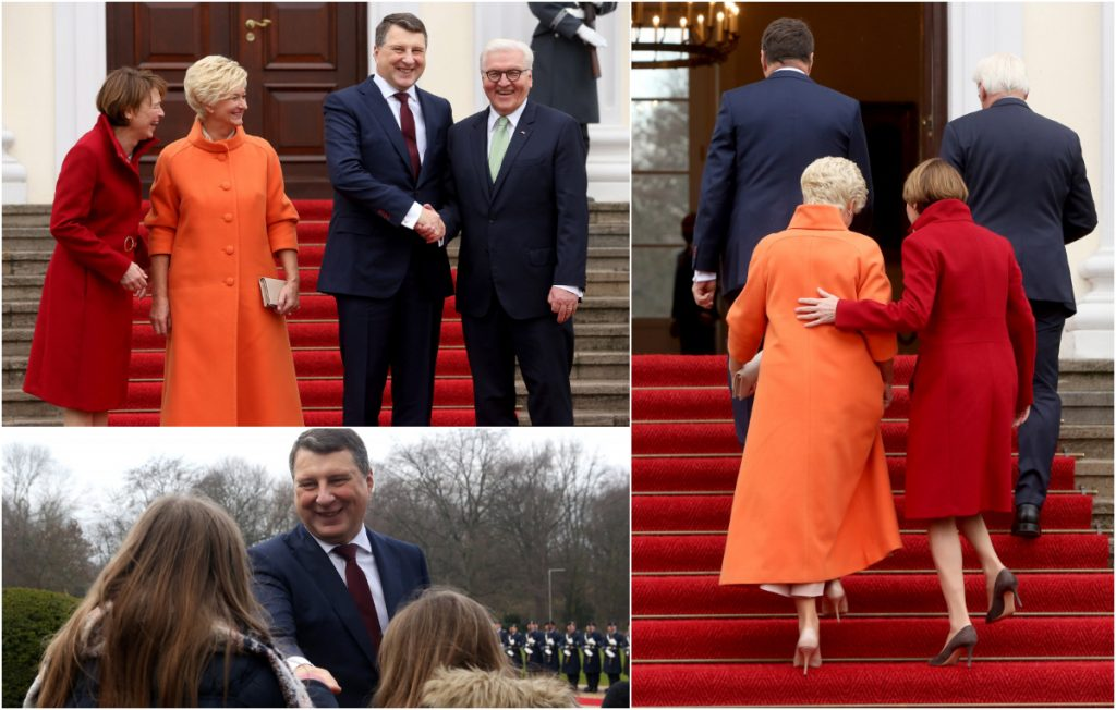 Valsts prezidents Raimonds Vējonis un Iveta Vējones kundze sāk valsts viziti Vācijā.