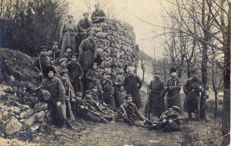 Atsevišķā latviešu bataljona karavīri. Kandava, 1919. gada marts.
