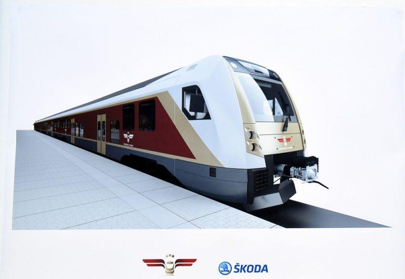 """Viesnīcā """"Rixwell Hotel Konventa Sēta"""" notiekvilcienu ražotāja """"Škoda Vagonka"""" preses konference par AS """"Pasažieru vilciens"""" rīkoto piepilsētas elektrovilcienu iepirkumu."""