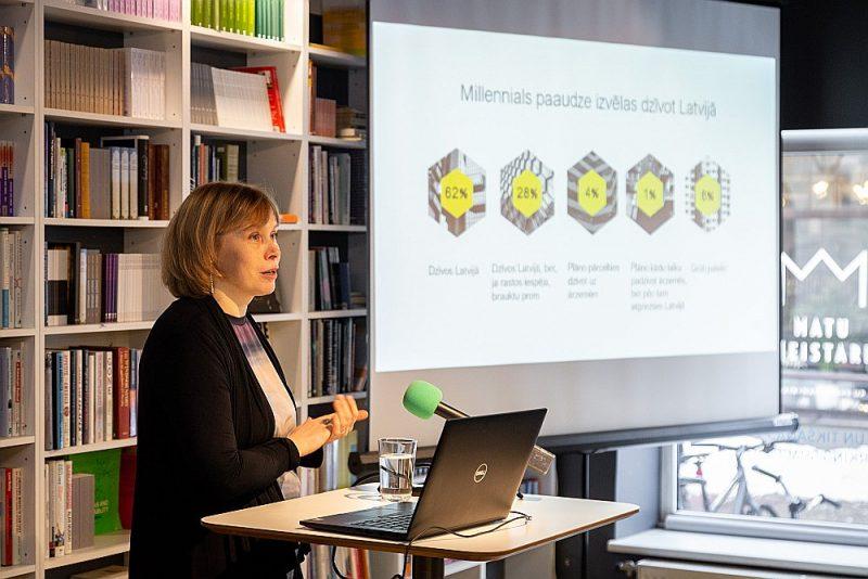 """""""Kantar"""" socioloģe Inta Priedola pētījumā secinājusi, ka 62% tūkstošgades mijā dzimušo vēlas dzīvot Latvijā un 40% – savā mājā."""
