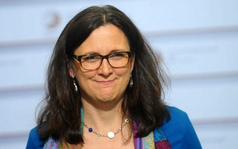 Eiropas Komisijas tirdzniecības komisāre Sesīlija Malmstrēma.