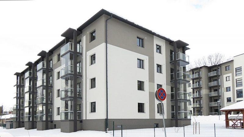 """SIA """"Bonava Latvija"""" daudzstāvu daudzdzīvokļu dzīvojamo ēku kompleksa jaunbūve Sermuliņu ielā 14, kas orientējas uz ekonomiskas klases, kompaktiem dzīvokļiem Rīgas tuvējā centrā."""