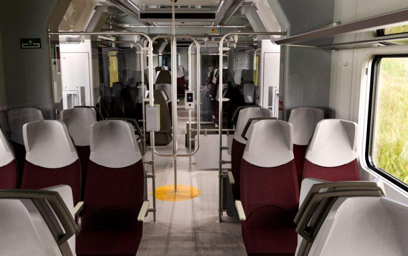 """Spānijas uzņēmuma """"Talgo"""" ektrovilcienu dizaina piemērs, kādus iegādašies AS """"Pasažieru vilciens""""."""
