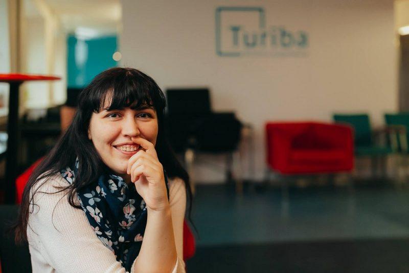 """Biznesa augstskolas """"Turība"""" Biznesa inkubatora programmas """"Mentorklase"""" idejas līdzautore Terēze Riekstiņa."""