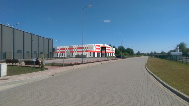 Ventspils Augsto tehnoloģiju parka jaunās ražošanas ēkas vizualizācija.