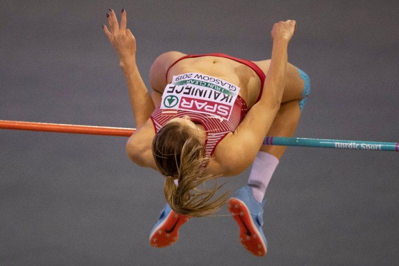 Laura Ikauniece Eiropas čempionātā telpās.