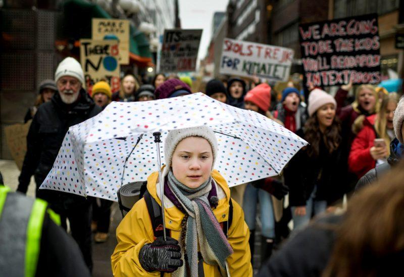 Klimata aktīviste Grēta Tūnberga.