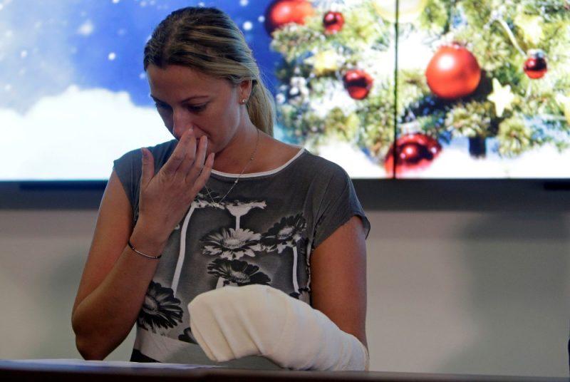 Petra Kvitova pēc uzbrukuma tenisā atgriezās vien pēc pusgada.