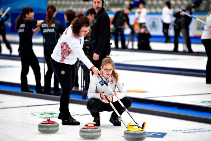 Latvijas kērlingistes pasaules čempionātā.