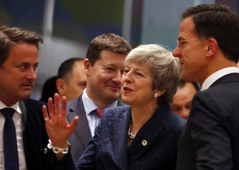 Britu premjere Terēza Meja pirms Eiropas Padomes sēdes Briselē