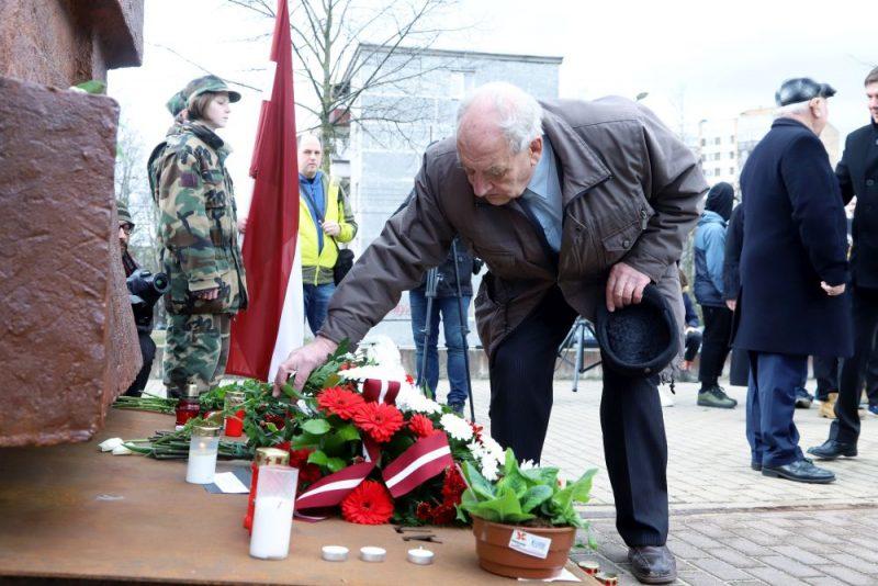 Rīgā pie Šķirotavas stacijas piemin 1949.gada 25.marta deportācijas un Komunistiskā genocīda upuri, 25.03.2019.