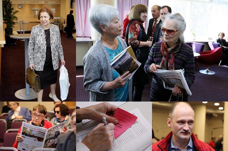 """""""Latvijas krievu savienības"""" organizētā """"mazākumtautību skolu audzēkņu vecāku sapulce""""."""