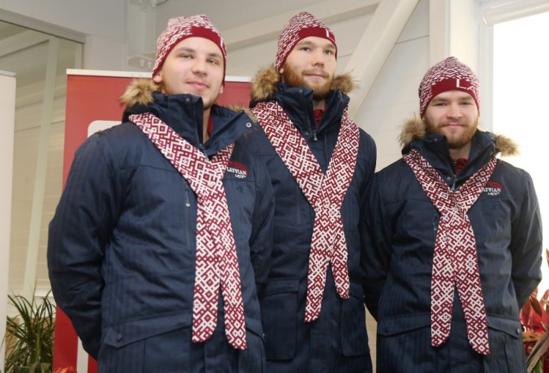 Latvian Student Hockey Player & # 8211; Ilya Zhulev (from left), Kristaps Miller and Christian Zelt.