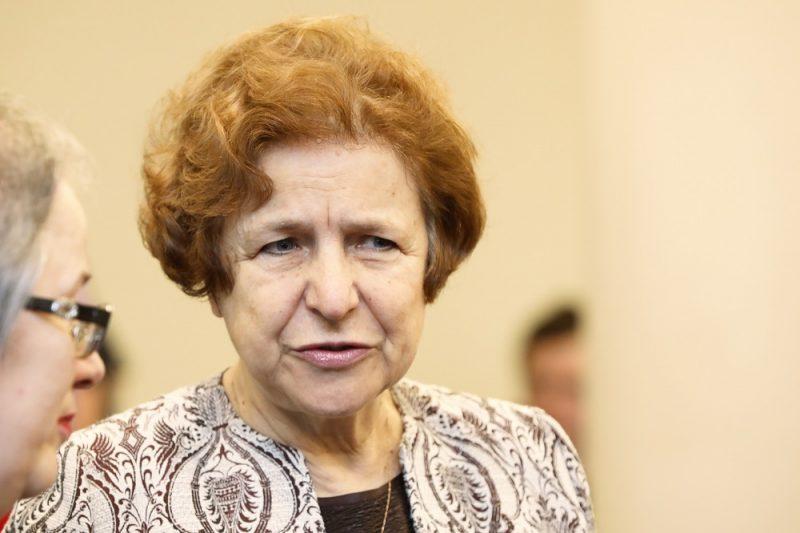 Latvijas Krievu savienības līdere un Eiropas Parlamenta deputāte Tatjana Ždanoka.