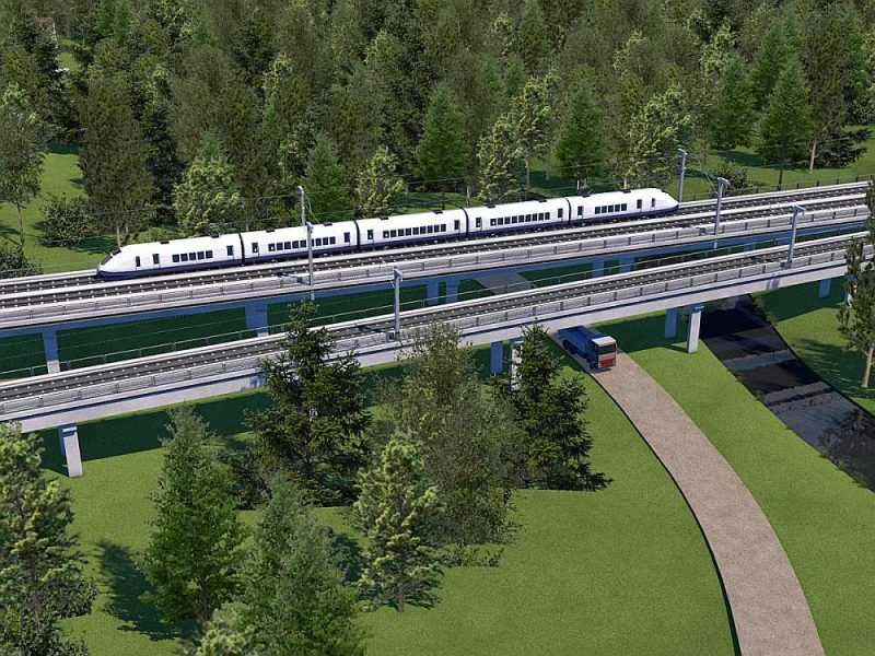 """Rail Baltica"" vizualizācija."