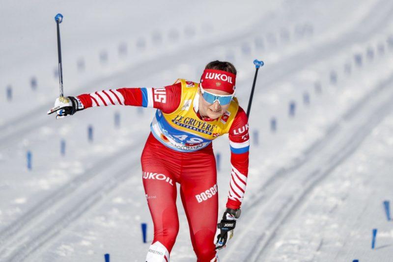 Krievijas slēpotāja Jūlija Belorukova.